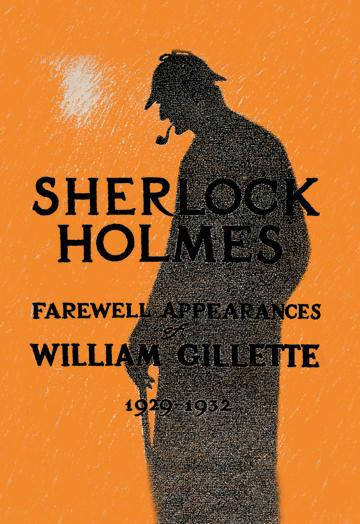 William Gillette as Sherlock Holmes: Farewell Appearance 24x36 Giclee