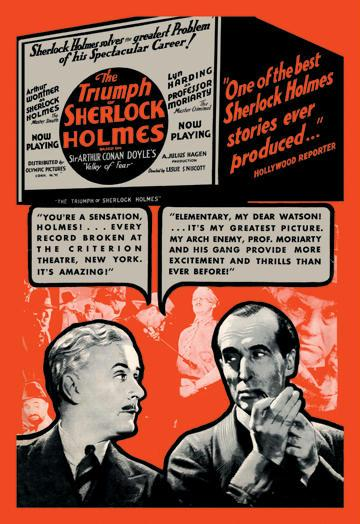 The Triumph of Sherlock Holmes 24x36 Giclee