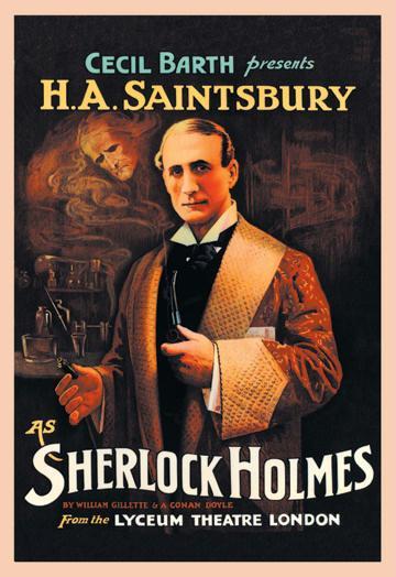 H.A. Saintsbury as Sherlock Holmes - book cover - 24x36 Giclee
