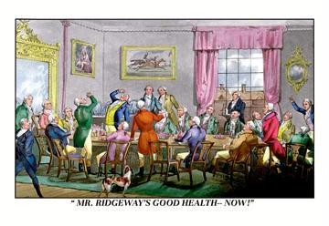Drink to Mr. Ridgeway's Good Health 24x36 Giclee