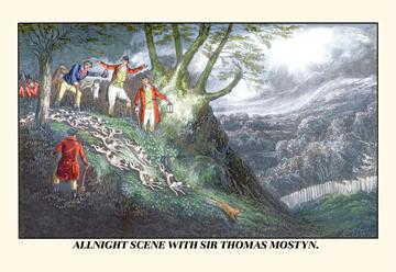 All Night Hunt with Sir Thomas Mostyn 24x36 Giclee
