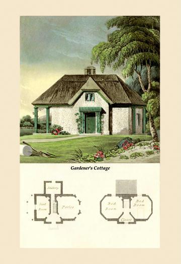 A Gardener's Cottage 24x36 Giclee
