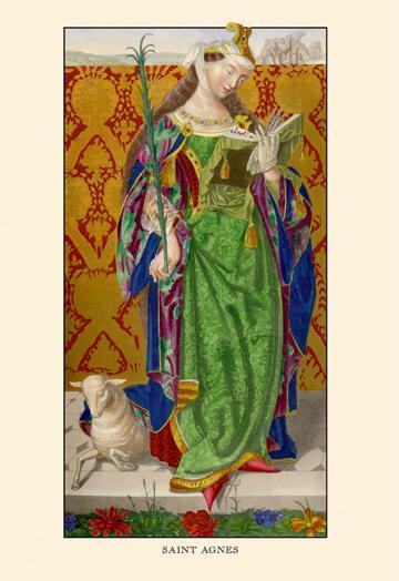 "Buyenlarge 08562-2G24x36 Saint Agnes 24"" x 36"" Giclee Print On Standard Paper"