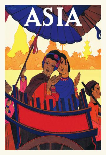 Burma-The Golden Landscape with TITLE 24x36 Giclee