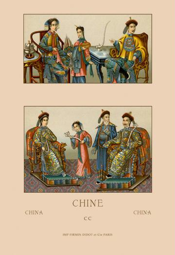 A Chinese Imperial Family 24x36 Giclee