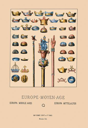Royal Items of the Middle Ages 24x36 Giclee