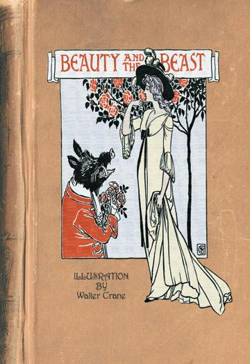 Beauty and the Beast - book cover - 24x36 Giclee