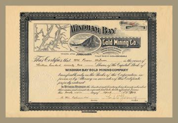 Windham Bay Gold Mining Company 24x36 Giclee