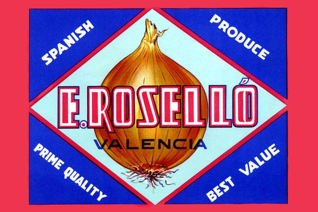 E. Rosello Valencia Onions 24x36 Giclee Onion Seeds, Onion Sets, Onion Plants, Scallion Seeds, Bunching Onions, Green Onions, Garden Seeds