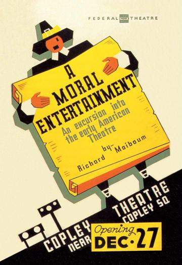 A Moral Entertainment: Early American Theater 28x42 Giclee On Canvas