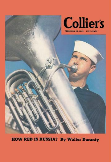 Buyenlarge Navy Tuba Player 28x42 Giclee On Canvas at Sears.com