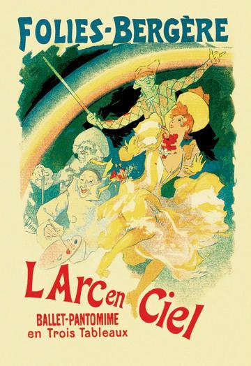 L  Arc en Ciel: Folies-Bergere 28x42 Giclee On Canvas