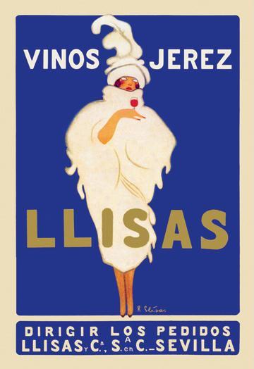 Vinos Jerez Llisas 28x42 Giclee On Canvas