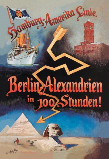 Berlin to Alexandria in 100 Hours on the Hamburg-Amerika Cruise Line 28x42 Giclee On Canvas