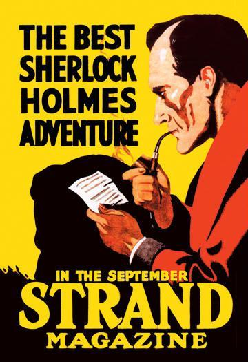 The Best Sherlock Holmes Adventure 28x42 Giclee On Canvas