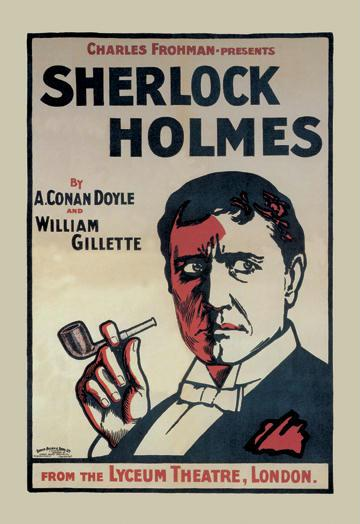 Sherlock Holmes: The Lyceum Theatre London 28x42 Giclee On Canvas