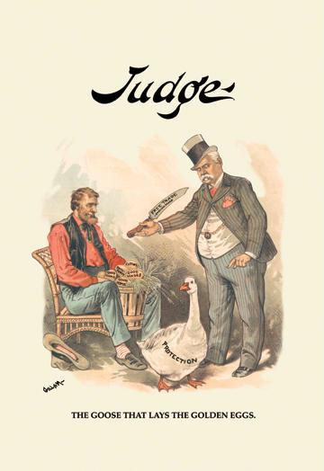 Judge: The Goose That Lays the Golden Eggs 28x42 Giclee On Canvas DDDSD506784