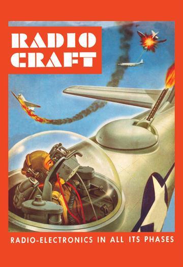 Radio-Craft: Fighter Plane 28x42 Giclee On Canvas