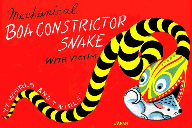 Boa Constrictor Snake with Victim 28x42 Giclee On Canvas