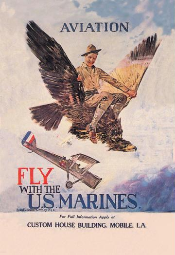Fly with the U.S. Marines 12x18 Giclee On Canvas
