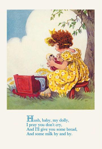 Hush Baby My Dolly 12x18 Giclee On Canvas