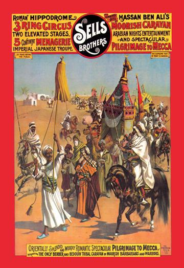 Pilgrimage to Mecca: Sells Brothers Circus 12x18 Giclee On Canvas