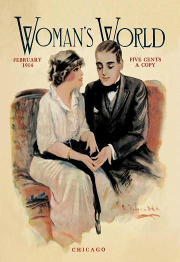 Woman's World February 1914 12x18 Giclee On Canvas