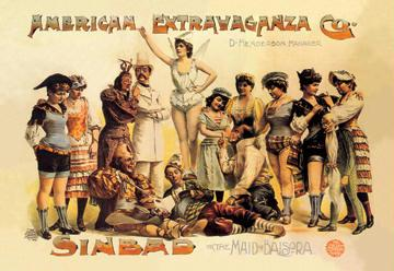 American Extravaganza Company: Sinbad or The Maid of Baisora 12x18 Giclee On Canvas