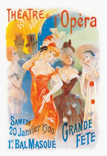 Theatre de l Opera 12x18 Giclee On Canvas