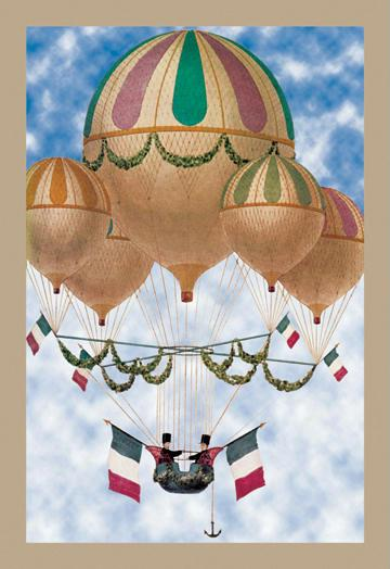 Balloon Flotill Highly Decorated Balloons sport the Italian Flag and its colors 12x18 Giclee On Canvas