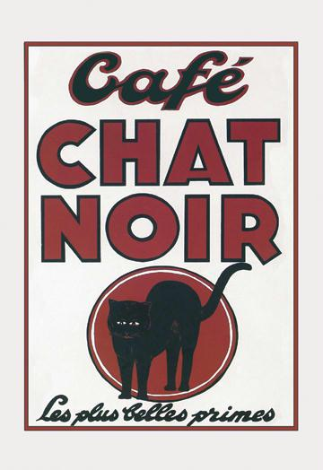 Caf Chat Noir 12x18 Giclee On Canvas