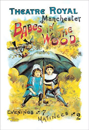 Babes in the Wood at the Theatre Royal Manchester 12x18 Giclee On Canvas
