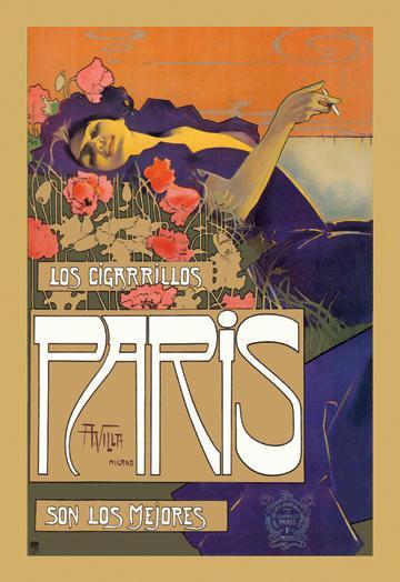 Los Cigarrillos Paris son los mejores 12x18 Giclee On Canvas