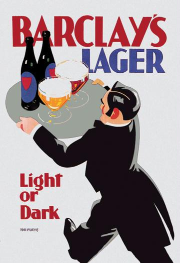 Barclay's Lager: Light or Dark 12x18 Giclee On Canvas