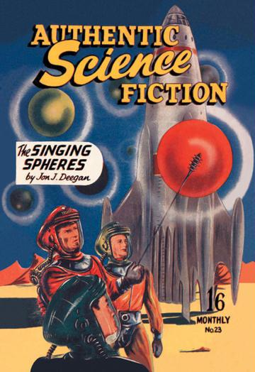 Authentic Science Fiction: The Singing Spheres 12x18 Giclee On Canvas