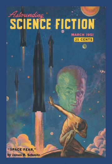 Astounding Science Fiction: Space Fear 12x18 Giclee On Canvas