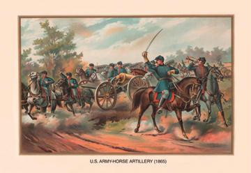 U.S. Army Horse Artillery 1865 12x18 Giclee On Canvas
