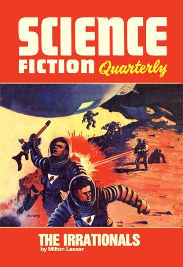 Science Fiction Quarterly: Astronaut Battle 12x18 Giclee On Canvas