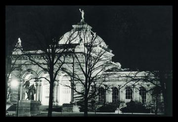 Memorial Hall Philadelphia at Night 12x18 Giclee On Canvas