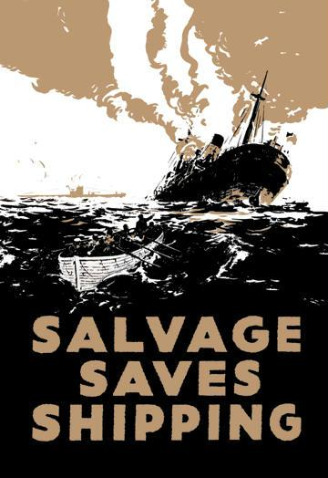 Salvage Saves Shipping 12x18 Giclee On Canvas