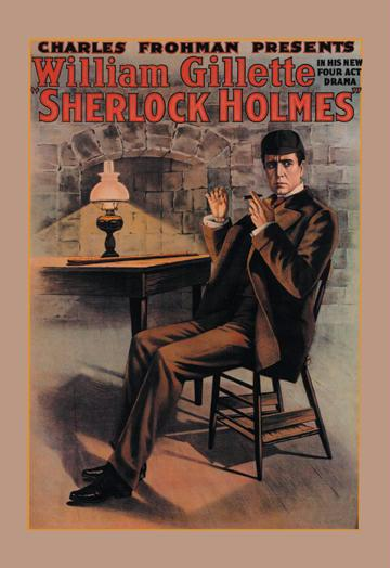 William Gillette as Sherlock Holmes 12x18 Giclee On Canvas