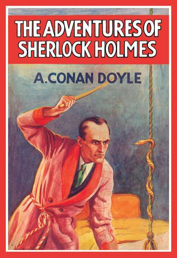 The Adventures of Sherlock Holmes No.2 - book cover - 12x18 Giclee On Canvas