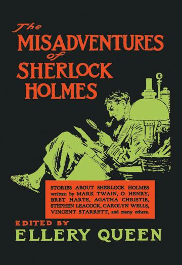 The Misadventures of Sherlock Holmes - book cover - 12x18 Giclee On Canvas