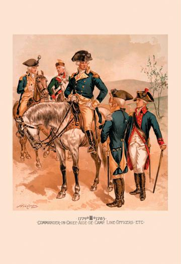 Commander in Chief - Aide de Camp - Line Officers etc. 12x18 Giclee On Canvas