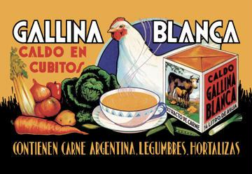 Gallina Blanca 12x18 Giclee On Canvas