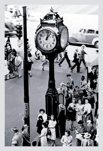 Reading Terminal Clock Philadelphia PA 12x18 Giclee On Canvas