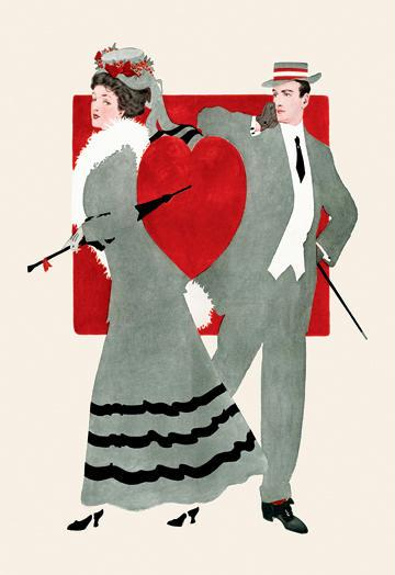 Valentine Couple 12x18 Giclee On Canvas