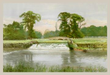 In Charlecote Park 12x18 Giclee On Canvas