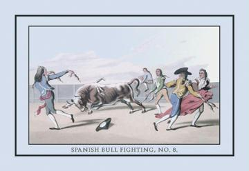 Spanish Bull Fighting No. 8 12x18 Giclee On Canvas