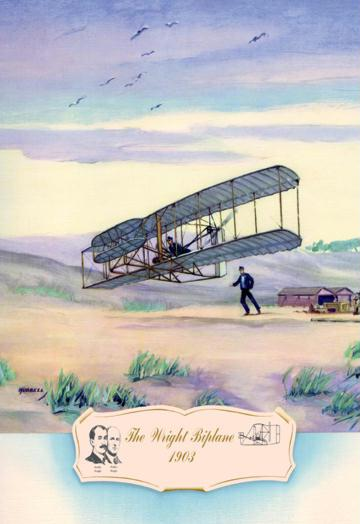 The Wright Biplane 1903 12x18 Giclee On Canvas
